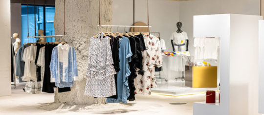 store de vêtements de mode